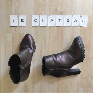 le chateau vegan leather chunky sole ankle boots 8